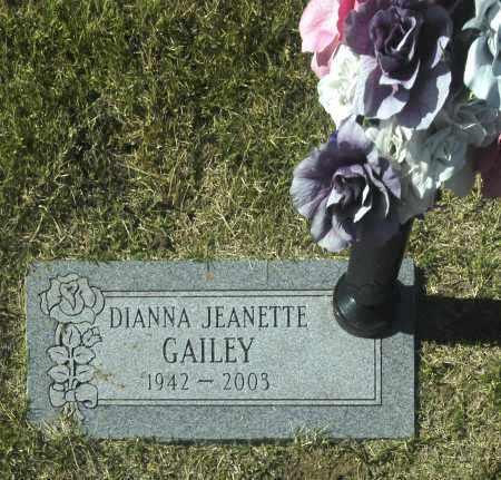 GAILEY, DIANNA JEANETTE - Washington County, Oklahoma | DIANNA JEANETTE GAILEY - Oklahoma Gravestone Photos
