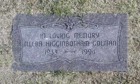 GOLMAN, MELBA HIGGINBOTHAM - Washington County, Oklahoma | MELBA HIGGINBOTHAM GOLMAN - Oklahoma Gravestone Photos