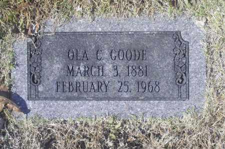 GOODE, OLA C - Washington County, Oklahoma | OLA C GOODE - Oklahoma Gravestone Photos