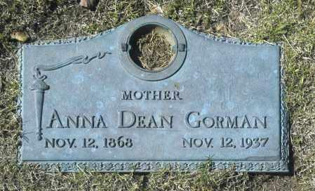 GORMAN, ANNA DEAN - Washington County, Oklahoma   ANNA DEAN GORMAN - Oklahoma Gravestone Photos