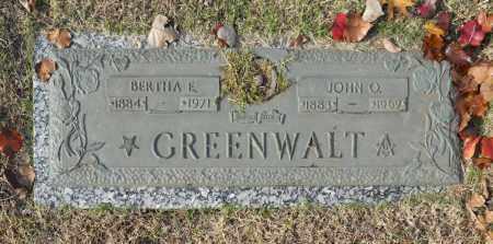 GREENWALT, JOHN O - Washington County, Oklahoma | JOHN O GREENWALT - Oklahoma Gravestone Photos