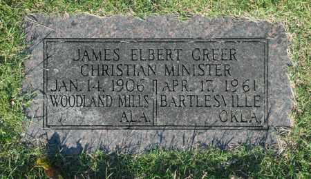 GREER, JAMES ELBERT - Washington County, Oklahoma | JAMES ELBERT GREER - Oklahoma Gravestone Photos