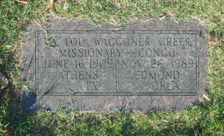 WAGGONER GREER, LOU - Washington County, Oklahoma | LOU WAGGONER GREER - Oklahoma Gravestone Photos