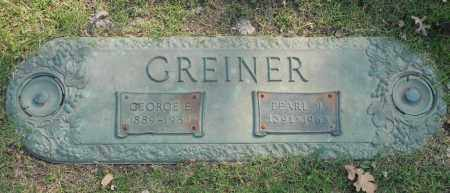 GREINER, PEARL J. - Washington County, Oklahoma | PEARL J. GREINER - Oklahoma Gravestone Photos