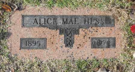 HESS, ALICE MAE - Washington County, Oklahoma | ALICE MAE HESS - Oklahoma Gravestone Photos