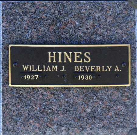HINES, WILLIAM J - Washington County, Oklahoma | WILLIAM J HINES - Oklahoma Gravestone Photos