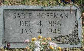 HOFFMAN, SADIE - Washington County, Oklahoma | SADIE HOFFMAN - Oklahoma Gravestone Photos