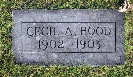 HOOD, CECIL A. - Washington County, Oklahoma   CECIL A. HOOD - Oklahoma Gravestone Photos