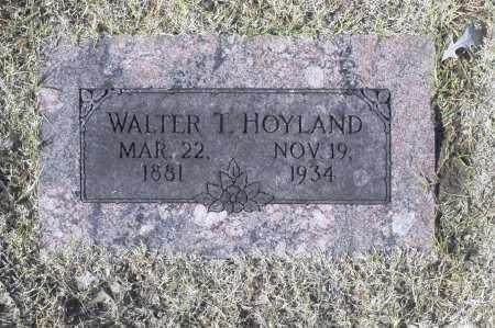 HOYLAND, WALTER T - Washington County, Oklahoma   WALTER T HOYLAND - Oklahoma Gravestone Photos