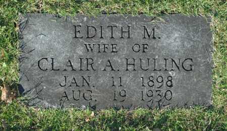 HULING, EDITH M. - Washington County, Oklahoma   EDITH M. HULING - Oklahoma Gravestone Photos