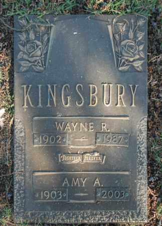 KINGSBURY, WAYNE R. - Washington County, Oklahoma | WAYNE R. KINGSBURY - Oklahoma Gravestone Photos