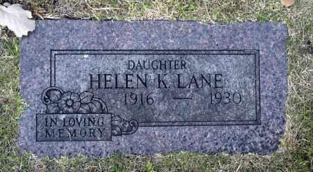 LANE, HELEN K - Washington County, Oklahoma | HELEN K LANE - Oklahoma Gravestone Photos