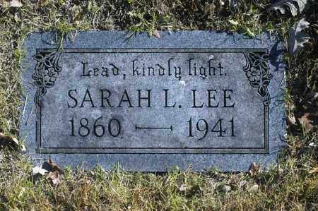 LEE, SARAH L - Washington County, Oklahoma | SARAH L LEE - Oklahoma Gravestone Photos