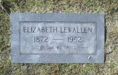 LEWALLEN, ELIZABETH - Washington County, Oklahoma   ELIZABETH LEWALLEN - Oklahoma Gravestone Photos