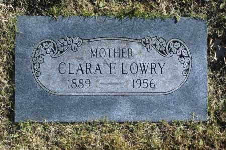 LOWRY, CLARA F - Washington County, Oklahoma   CLARA F LOWRY - Oklahoma Gravestone Photos
