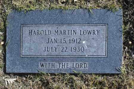 LOWRY, HAROLD MARTIN - Washington County, Oklahoma | HAROLD MARTIN LOWRY - Oklahoma Gravestone Photos