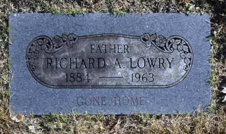 LOWRY, RICHARD A - Washington County, Oklahoma | RICHARD A LOWRY - Oklahoma Gravestone Photos
