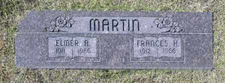 MARTIN, FRANCES H - Washington County, Oklahoma | FRANCES H MARTIN - Oklahoma Gravestone Photos