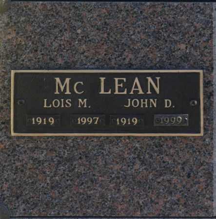 MC LEAN, JOHN D - Washington County, Oklahoma | JOHN D MC LEAN - Oklahoma Gravestone Photos