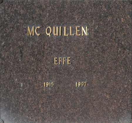 MC QUILLEN, EFFE - Washington County, Oklahoma | EFFE MC QUILLEN - Oklahoma Gravestone Photos