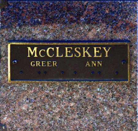 MCCLESKEY, GREER - Washington County, Oklahoma | GREER MCCLESKEY - Oklahoma Gravestone Photos
