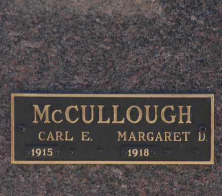 MCCULLOUGH, CARL E - Washington County, Oklahoma | CARL E MCCULLOUGH - Oklahoma Gravestone Photos