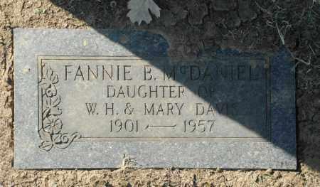 MCDANIEL, FANNIE B - Washington County, Oklahoma | FANNIE B MCDANIEL - Oklahoma Gravestone Photos