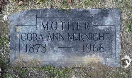 MCKNIGHT, CORA ANN - Washington County, Oklahoma   CORA ANN MCKNIGHT - Oklahoma Gravestone Photos