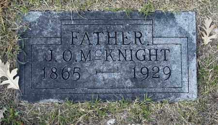 MCKNIGHT, J O - Washington County, Oklahoma | J O MCKNIGHT - Oklahoma Gravestone Photos