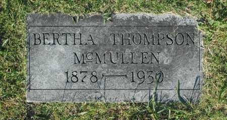MCMULLEN, BERTHA - Washington County, Oklahoma | BERTHA MCMULLEN - Oklahoma Gravestone Photos