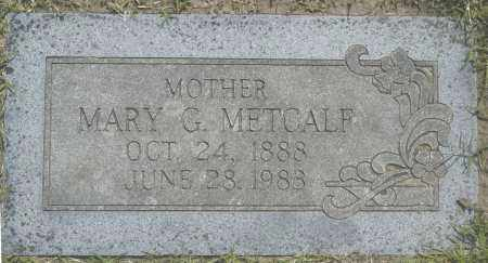 METCALF, MARY G. - Washington County, Oklahoma | MARY G. METCALF - Oklahoma Gravestone Photos