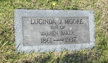 MOORE, LUCINDA J. - Washington County, Oklahoma | LUCINDA J. MOORE - Oklahoma Gravestone Photos