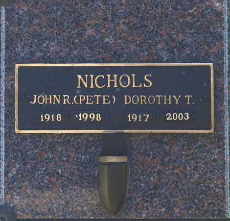 NICHOLS, DOROTHY T - Washington County, Oklahoma | DOROTHY T NICHOLS - Oklahoma Gravestone Photos