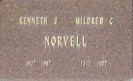 NORVELL, KENNETH J - Washington County, Oklahoma   KENNETH J NORVELL - Oklahoma Gravestone Photos