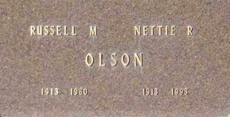 OLSON, RUSSELL M - Washington County, Oklahoma | RUSSELL M OLSON - Oklahoma Gravestone Photos