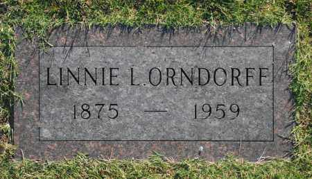 ORNDORFF, LINNIE L. - Washington County, Oklahoma | LINNIE L. ORNDORFF - Oklahoma Gravestone Photos