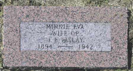 PASLAY, MINNIE EVA - Washington County, Oklahoma | MINNIE EVA PASLAY - Oklahoma Gravestone Photos