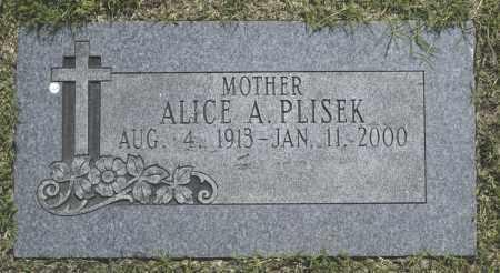 PLISEK, ALICE A. - Washington County, Oklahoma | ALICE A. PLISEK - Oklahoma Gravestone Photos