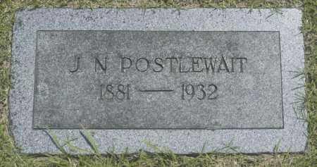 POSTLEWAIT, J. N. - Washington County, Oklahoma   J. N. POSTLEWAIT - Oklahoma Gravestone Photos