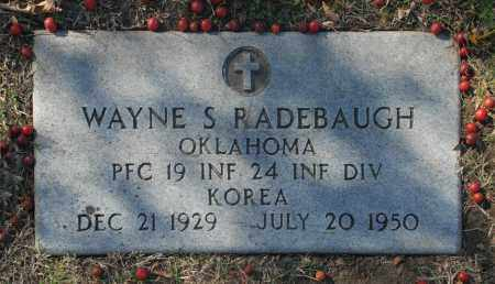 RADEBAUGH (VETERAN KOR), WAYNE S - Washington County, Oklahoma | WAYNE S RADEBAUGH (VETERAN KOR) - Oklahoma Gravestone Photos