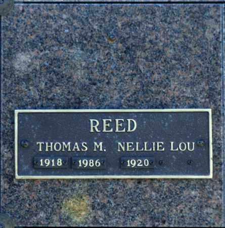 REED, NELLIE LOU - Washington County, Oklahoma   NELLIE LOU REED - Oklahoma Gravestone Photos