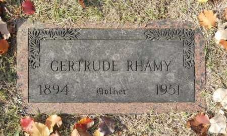 RHAMY, GERTRUDE - Washington County, Oklahoma | GERTRUDE RHAMY - Oklahoma Gravestone Photos