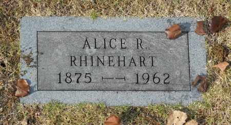 RHINEHART, ALICE R - Washington County, Oklahoma | ALICE R RHINEHART - Oklahoma Gravestone Photos