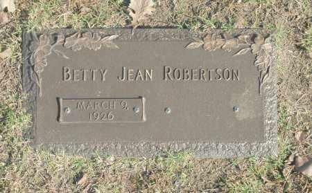 ROBERTSON, BETTY JEAN - Washington County, Oklahoma | BETTY JEAN ROBERTSON - Oklahoma Gravestone Photos