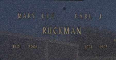 RUCKMAN, EARL J - Washington County, Oklahoma | EARL J RUCKMAN - Oklahoma Gravestone Photos