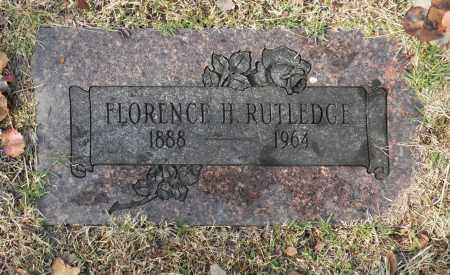 RUTLEDGE, FLORENCE H - Washington County, Oklahoma | FLORENCE H RUTLEDGE - Oklahoma Gravestone Photos