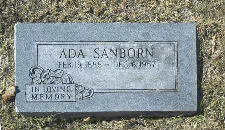 SANBORN, ADA - Washington County, Oklahoma | ADA SANBORN - Oklahoma Gravestone Photos