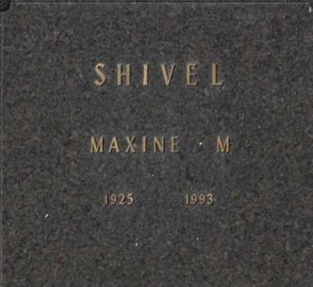 SHIVEL, MAXINE M - Washington County, Oklahoma   MAXINE M SHIVEL - Oklahoma Gravestone Photos
