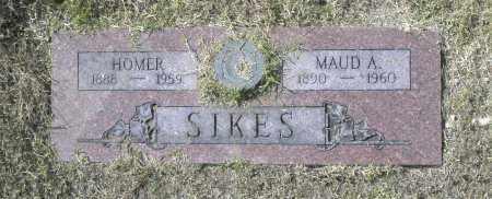 SIKES, MAUD A - Washington County, Oklahoma   MAUD A SIKES - Oklahoma Gravestone Photos