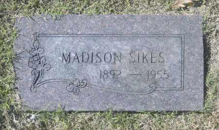 SIKES, MADISON - Washington County, Oklahoma   MADISON SIKES - Oklahoma Gravestone Photos